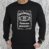 Мужской черный свитшот, кофта, лонгслив, реглан Jack Daniels, Реплика