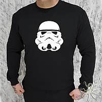Мужской черный свитшот, кофта, лонгслив, реглан Star Wars, Реплика