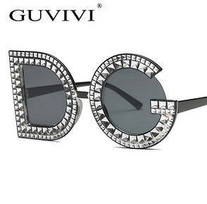 """Черные солнцезащитные очки в виде букв """"DG"""", фото 2"""