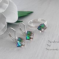 Набор из серебра с камнями Swarovski