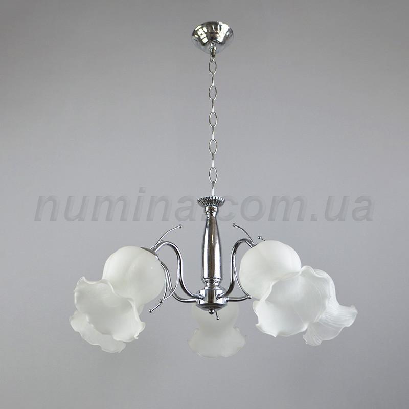 Люстра подвесная на пять лампочек NL-7015/5CR+WT
