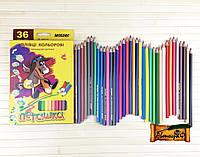 """Цветные карандаши Пегашка 36 цветов №1010-36CB """"MARCO"""" (уп4\80)"""