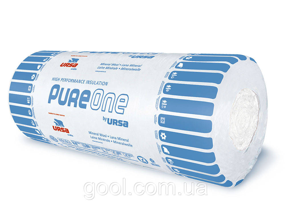 Минеральная вата Ursa PureOne 37RN 2x6250х1200х50 мм. упаковка 15 м2  - Стройматериалы Киев в Киеве