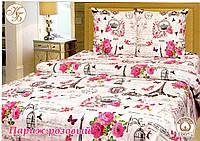 Двуспальный комплект Розовый Париж Бязь Тиротекс