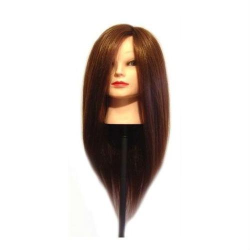 Голова манекена с искусственными термостойкими волосами GLV-02