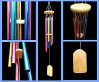 Музыка ветра 5 трубочек металл цветной (L = 65 см)