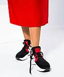 Женские комбинированные кроссовки с металлическим декором, фото 4