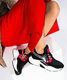 Женские комбинированные кроссовки с металлическим декором, фото 2