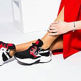 Женские комбинированные кроссовки с металлическим декором, фото 3