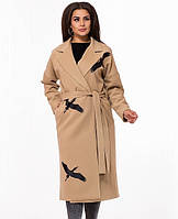 eb2bdd7e865 Женское бежевое кашемировое пальто
