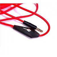 Кабель аудио AUX 3.5 jack 1м с микрофоном, фото 1