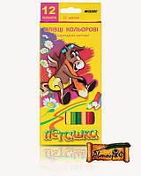 """Цветные карандаши Пегашка 12 цветов №1010-12CB """"MARCO"""" (уп12\240)"""