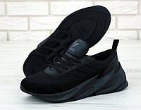 Кроссовки мужские Adidas Sharks реплика ААА+, размер 42-44 черный (живые фото), фото 1
