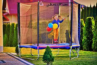 Батут Just Fun 312 см с сеткой и лестницей мультиколор, фото 2
