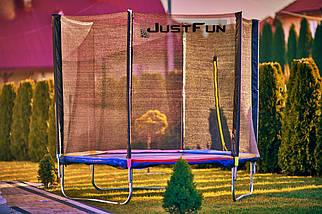 Батут Just Fun 312 см с сеткой и лестницей мультиколор, фото 3