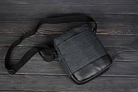 Сумка на плечо мессенджер, барсетка Остин, цвет темно-серый (антрацит), фото 1