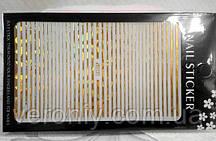 Наклейка гибкая лента золото голограмное