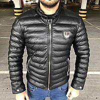 Мужская куртка Philipp Plein Michelin филипп плейн черная реплика, фото 1