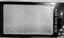 Наклейка гибкая лента серебро голограмное