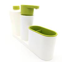 ✅ТОП ЦЕНА! Органайзер для раковины, диспенсер для мыла, подставка для зубных щеток, Sink Tidy Sey Plus 3 в 1, емкость для жидкого мыла, купить