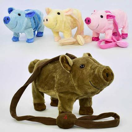 Музыкальная игрушка Свинка на д/у М 03048 (48) высота 18см, музыкальная, ходит, танцует, в кульке( ГОЛУБОЙ ЦВЕТ)