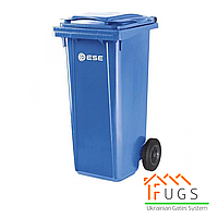 Пластиковый контейнер для утилизации мусора, 120 л синий