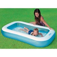 Детский надувной бассейн Intex 57403 с надувным дном, прямоугольный, бассейны Интекс