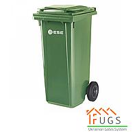 Пластиковый контейнер для утилизации мусора, 120 л зеленый