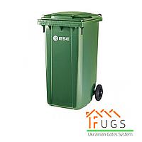 Пластиковый контейнер для утилизации мусора, 240 л зеленый