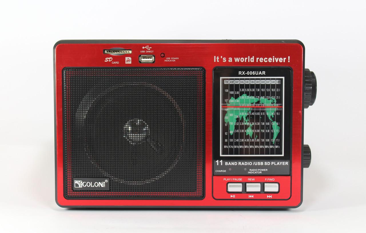 Радиоприемник с поддержкой MP3 GOLON RX 006 UAR