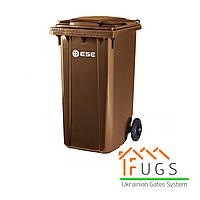 Пластиковый контейнер для утилизации мусора, 240 л коричневый