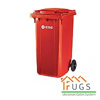 Пластиковый контейнер для утилизации мусора, 240 л красный