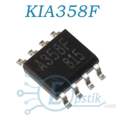 KIA358F, двухканальный операционный усилитель, SOP8
