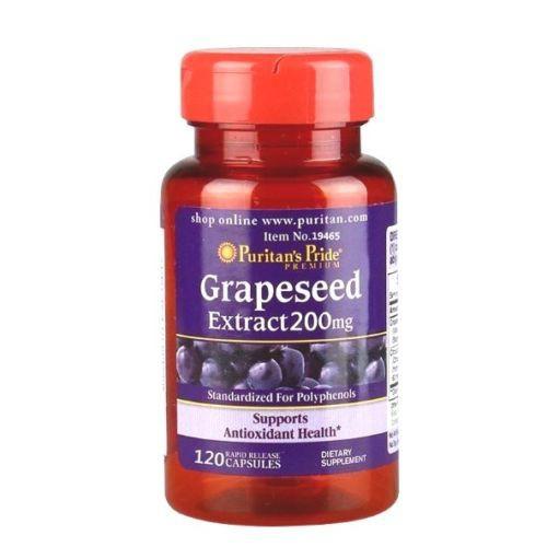 Антиоксидант Puritan's Pride Grapeseed Extract 200 mg 120 caps