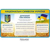 Стенд Национальные символы Украины