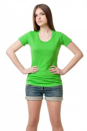 Женская футболка - салатовая, фото 2