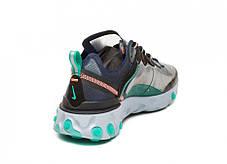 """Кроссовки Nike Undercover React Element 87 Neptune """"Синие/Черные"""", фото 3"""