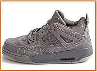 38c857cee Женские кроссовки Nike Air Jordan Retro 4 Kaws Grey (найк аир джордан ретро  4,