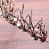 Діадема ХЛОЯ, корона на голову, тіара, прикраси для волосся аксесуари, фото 8
