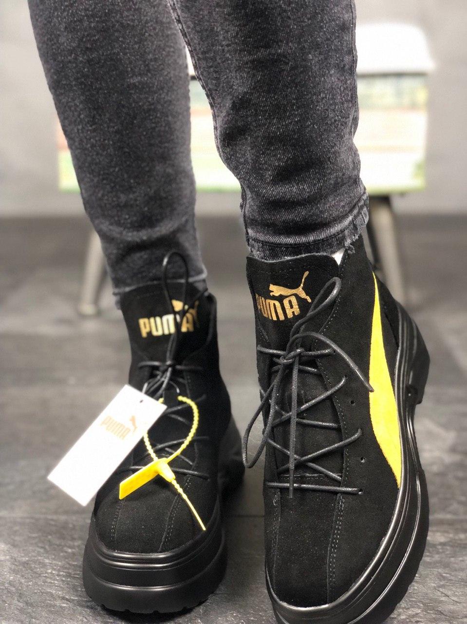 """Ботинки Puma Spring Boots Suede """"Черные"""""""