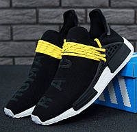 Мужские кроссовки Adidas NMD Human Race x Pharrell Williams Black, Адидас НМД, реплика