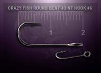 Одинарний гачок Crazy Fish Round Bent Joint Hook