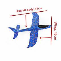 Только опт!!! Самолёт планер из пены  48 * 42см большой, фото 3