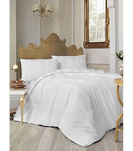 Постельное белье Altinbasak ранфорс простыня на резинке Nobby beyaz 200x220 евро