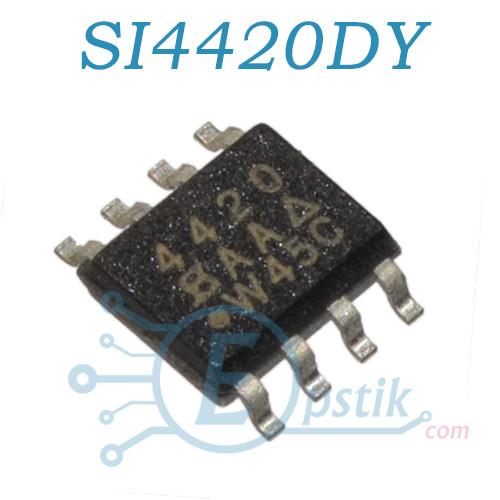 SI4420DY, (4420), MOSFET транзистор N канал, 30В, 13.5А, SOP8