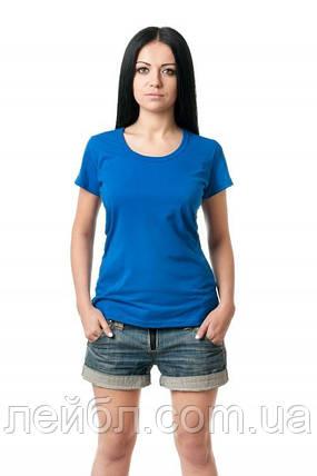 Жіноча футболка з круглою горловиною - електрик, фото 2