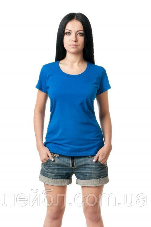 Жіноча футболка з круглою горловиною - електрик