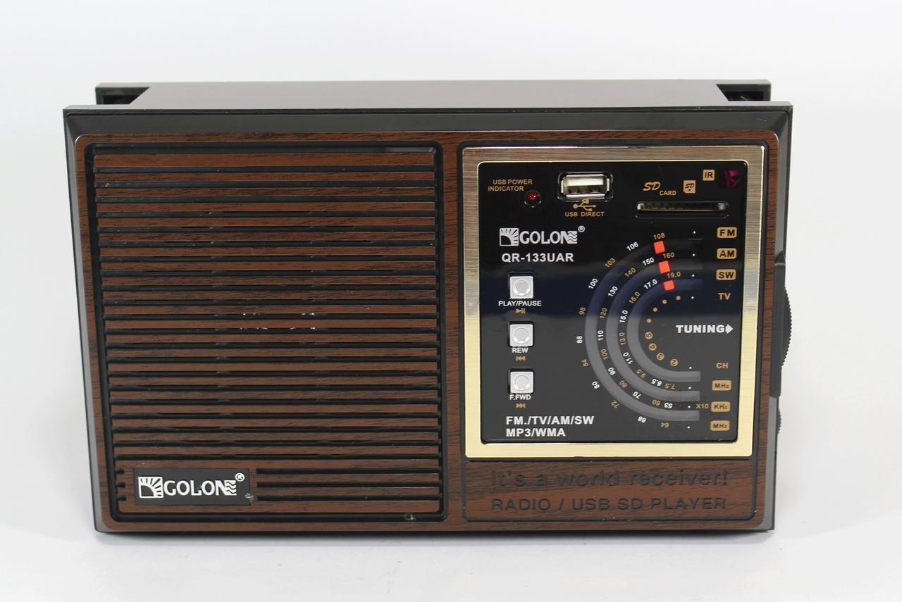 Радиоприемник Golon 133 UAR портативная колонка USB /SD / MP3/ FM / пульт