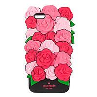 Силиконовый 3D чехол Red Roses Kate Spade для Apple iPhone 6 Plus / 6s Plus