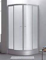 Душевая кабина 8140QWF 90*90 белый/фабрик + мелкий поддон